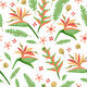 Floral Seamless Pattern with Cute Tropic Flower - GraphicRiver Item for Sale