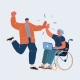 Vector Illustration of Man and Woman on Whellchair - GraphicRiver Item for Sale