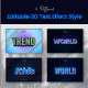 3D Editable Text Style Effect PSD - GraphicRiver Item for Sale