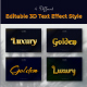 3D Editable Text Effect Style - GraphicRiver Item for Sale