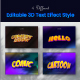 Editable 3D Text Effect Style - GraphicRiver Item for Sale