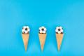 Football macaroons in waffle cones - PhotoDune Item for Sale