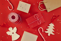 New Year or Christmas presents red background - PhotoDune Item for Sale