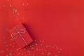New Year or Christmas present red background - PhotoDune Item for Sale