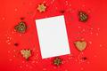 Christmas greeting postcard mockup with glitter - PhotoDune Item for Sale