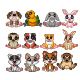 Set of Twelve Little Animal Collection - GraphicRiver Item for Sale