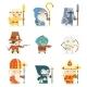 Set Fantasy Rpg Game Heroes Villains Character - GraphicRiver Item for Sale