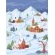 Christmas Landscape City Village Mountains Winter - GraphicRiver Item for Sale