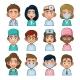 Doctor and Medical Nurse Avatar Sign Set - GraphicRiver Item for Sale