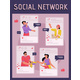 Vector Poster of Social Network Concept - GraphicRiver Item for Sale