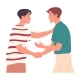 Two Guys Shaking Hands When Greeting Each Other - GraphicRiver Item for Sale
