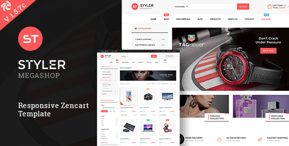 Styler Mega Shop - Responsive Zencart Theme