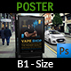 Vape Shop Poster Template - GraphicRiver Item for Sale