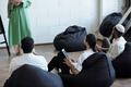 Row of Muslim businessmen in formalwear attending seminar - PhotoDune Item for Sale