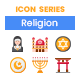 90 Religion Icons | Rich Series - GraphicRiver Item for Sale