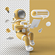 Astronaut in spacesuit working on laptop - GraphicRiver Item for Sale