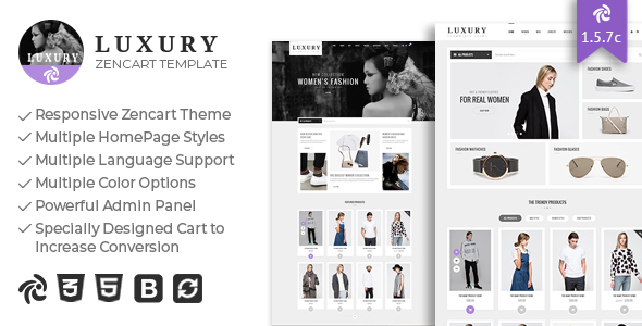 Luxury - Responsive Zencart Theme
