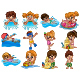 Set of Twelve Kids Activities at Beach - GraphicRiver Item for Sale