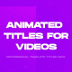 Business Titles and Lower Thirds Pack - VideoHive Item for Sale