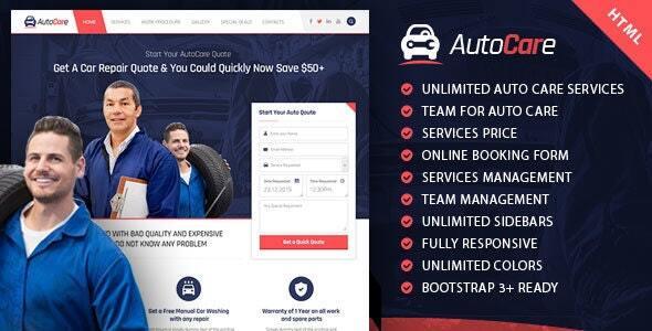 AutoCare | Responsive Automotive & Tech HTML Template
