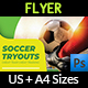 Soccer Tryouts Flyer Template - GraphicRiver Item for Sale