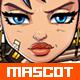 Cyberpunk Girl Mascot - GraphicRiver Item for Sale