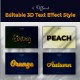 3D Editable Text Style Effect - GraphicRiver Item for Sale
