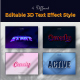 3D Text Effect Style - GraphicRiver Item for Sale