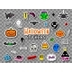 Halloween Teens Stickers and Patches - GraphicRiver Item for Sale