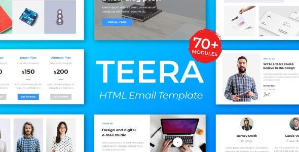 Download Teera Responsive Email Template – for Agency 50+ Modules – StampReady Builder + Mailster & Mailchimp