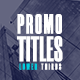 Promo Titles   Lower Thirds - VideoHive Item for Sale