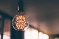 Luxury lighting decoration beautiful retro light lamp decor in restaurant. - PhotoDune Item for Sale