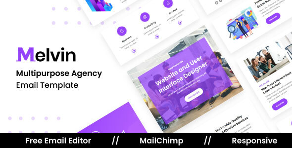Download Melvin Agency - Multipurpose Responsive Email Template