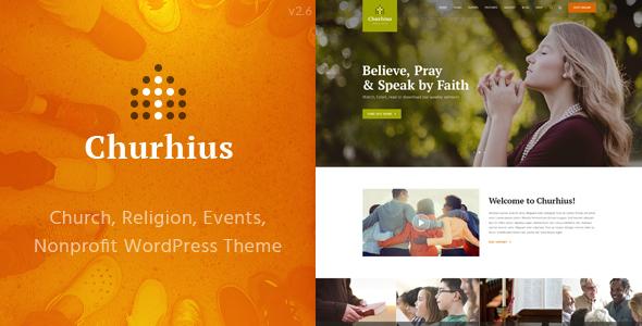 Churhius - Church Religion WordPress Theme