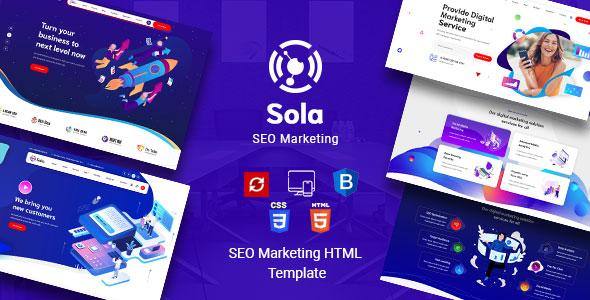 Sola - SEO Marketing HTML Template