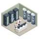 Isometric Artificial Intelligence in Robots - GraphicRiver Item for Sale