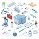 Healthcare Pharmacy Isometric First Aid Kit - GraphicRiver Item for Sale