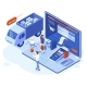 Isometric 3d Online Shopping Payments  - GraphicRiver Item for Sale