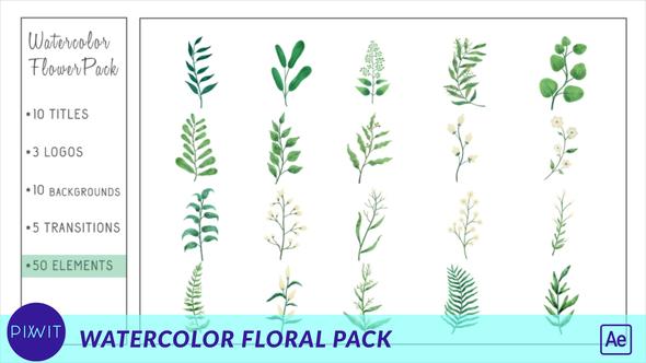 Watercolor Flower Pack