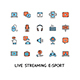 Live Streaming Sign Color Thin Line Icon Set. Vector - GraphicRiver Item for Sale