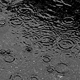 Light Rain With A Stream From The Drain Pipe