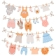 Baby Clothes on Rope - GraphicRiver Item for Sale