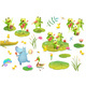 Pond or Swamp Characters Music Festival Clipart - GraphicRiver Item for Sale