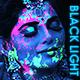Black Light Colorful Liquid Neon Splatter Action for Portraits - GraphicRiver Item for Sale