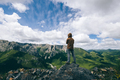 Hiker on high altitude mountain top - PhotoDune Item for Sale