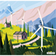 Landscape with Road in Alps. - GraphicRiver Item for Sale
