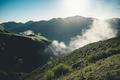 Arising fog nature mist mountains magic high altitude sunrise landscape - PhotoDune Item for Sale