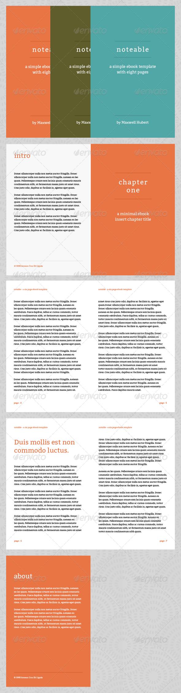 Ebook Template Indesign Graphics Designs Templates