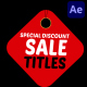 Discount Sale Titles   After Effects - VideoHive Item for Sale