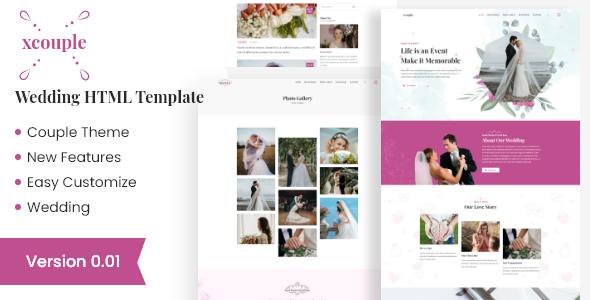 Xcouple – Wedding HTML Template